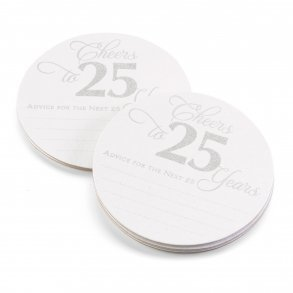 25th Anniversary Glitter Advice Coaster