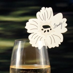 Laser Expressions Pansy Die Cut Place Card