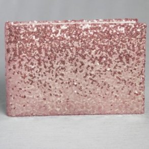 Blush Pink Shiny Sequin Wedding Guest Book