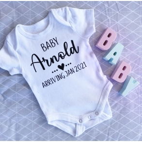 Personalised Baby Pregnancy Announcement Onesie