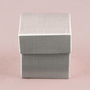 Lustrous Silver Favour Box with Lid