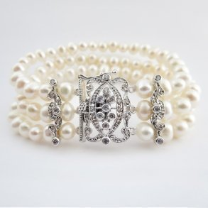 Antique Ivory Pearl Bridal Bracelet