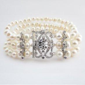 Antique Ivory Pearl Bridal Bracelet