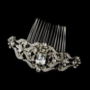 Antique Rhinestone Side Comb