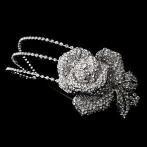 Antique Silver Flower Headpiece