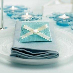 Aqua Blue Favour Purse Box