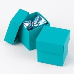 Palm Blue Favour Bomboniere Boxes