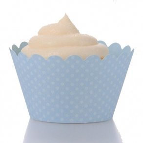 Baby Blue Cupcake Wrappers