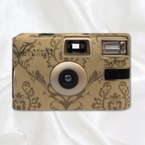 Gold Baroque Disposable Wedding Camera