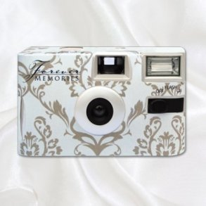 Baroque Taupe Disposable Wedding Camera
