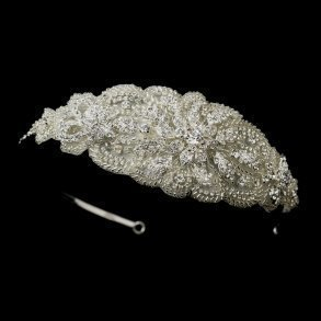 Beaded Crystal Fabric Headpiece