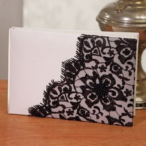 Gala Collection Black & Ivory Guest Book
