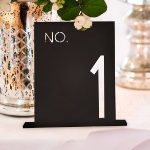 Black Acrylic Block Style Table Number