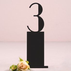 Black Acrylic Pedestal Style Table Number