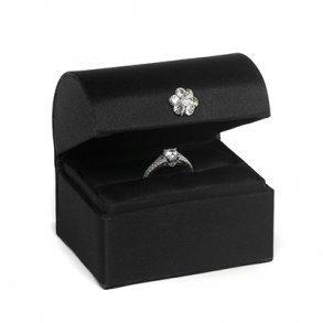 Black Satin Alternative Ring Bearer Box