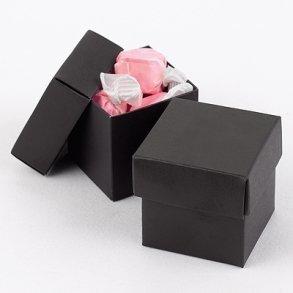 Black Wedding Favour Bomboniere Boxes