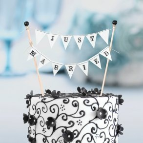 Just Married Mini Cake Bunting