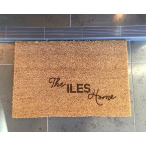 Sweet Custom Etched Family Home Doormat