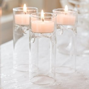 Blown Glass Miniature Tealight Luminaries