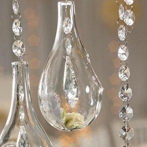 Blown Glass Tear Drop Vases - Small