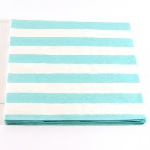 Blue Candy Stripe Napkins - Pack of 12