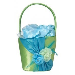 Blue & Green Flower Girl Basket