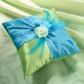 Blue & Green Ring Pillow