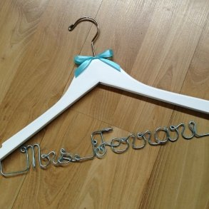 'Something Blue' Personalised Wedding Coat Hanger
