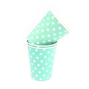 Blue Polkadot Party Cups - Pack of 12
