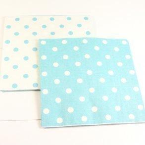 Reversible Blue Polkadot Napkins - Pack of 12