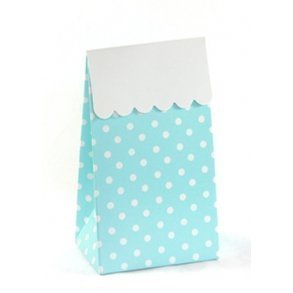 Blue Polkadot Sweet Party Treat Boxes - Pack of 12