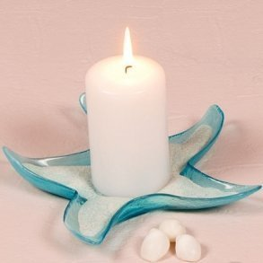 Starfish Glass Candle Holders/Dish