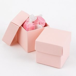 Blush Pink Favour Bomboniere Boxes