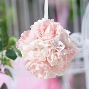 Blush Pink Flower Kissing Ball