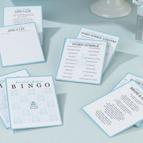 Set of 4 Bridal Shower Games
