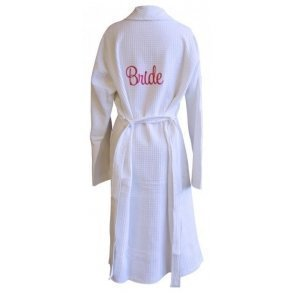 Bridal Party  Embroidery Waffle Robe
