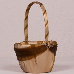 Bronze Elegance Flower Girl Basket