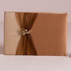 Bronze Elegance Wedding Guest Book