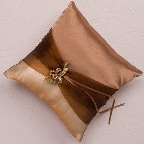 Bronze Elegance Wedding Ring Pillow