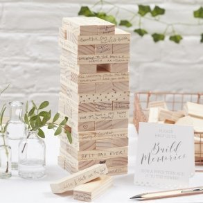 Build A Memory Building Blocks Guest Book Alternative