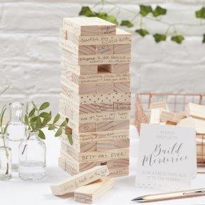 Build A Memory Building Blocks Guest Book Alternative