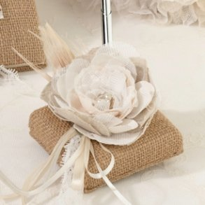 Burlap & Lace Wedding Pen
