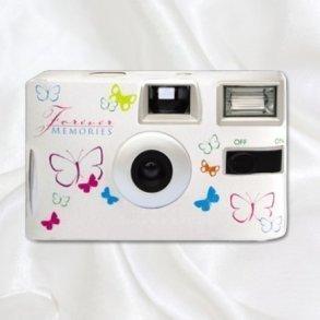 Butterflies Disposable Wedding Camera