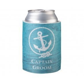 Captain Groom Blue Stubby Cooler
