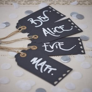 Chalkboard Luggage Favour or Bomboniere Tags