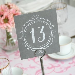 Charming Vintage Table Number Cards