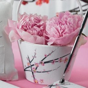Cherry Blossom Flower Girl Basket