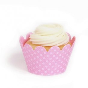 Cherry Blossom Pink Mini Cupcake Wrappers - Pack of 18