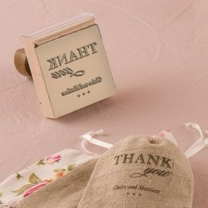 Personalised Chic Thank You Rubber Wedding Stamp
