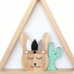Chief Hoppi Monochrome Kids Wooden Room Decor